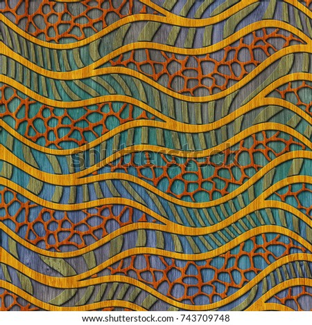 Color Wood Seamless Texture Wave Pattern Stock Illustration