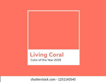 Color of the year 2019 Living Coral.
