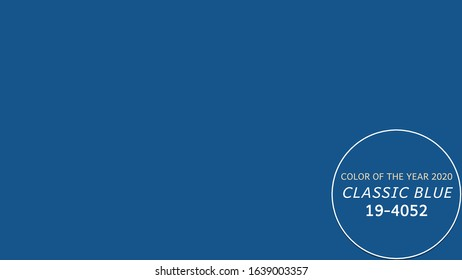 Color of the year classic blue background whith copy space