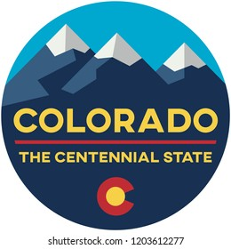 colorado: the centennial state | digital badge
