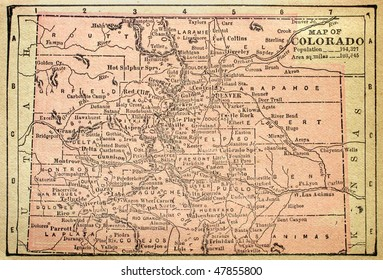 Colorado, circa 1880. See the entire map collection: http://www.shutterstock.com/sets/22217-maps.html?rid=70583
