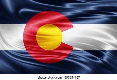 Colorado flag of silk