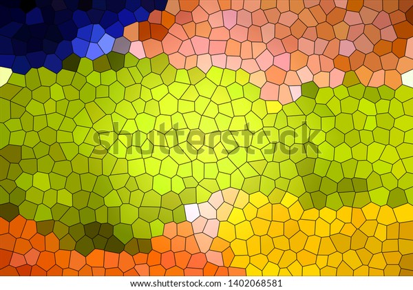 Colored Abstract Pattern Stained Glass Background Stock
