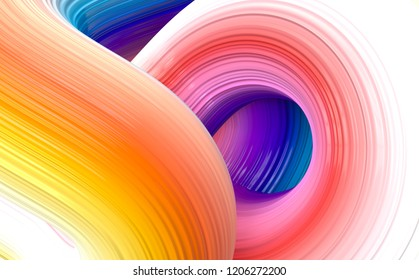 Colored abstract twisted loop background material