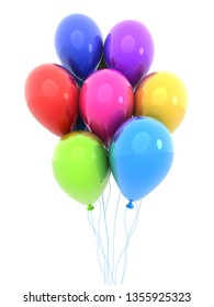 Colored balloon, isolated background. 3d illustration