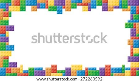 Colored Block Picture Frame Rectangular Shape Stock Illustration ...