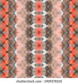Colored Boho Stripe. Boho Batik. Multicolor Dyed Watercolour. Colored Hand Abstract. Rainbow Geo Batik. Tribal Brush. Geometric Splash. Colored Texture Print. Dyed Stroke. Geo Geometric Textile.