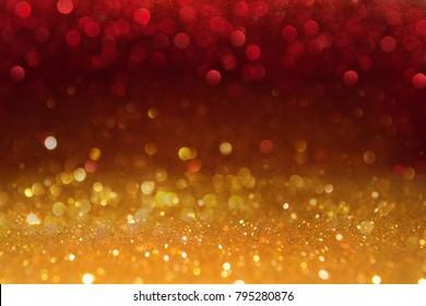 Colored bokeh glitter