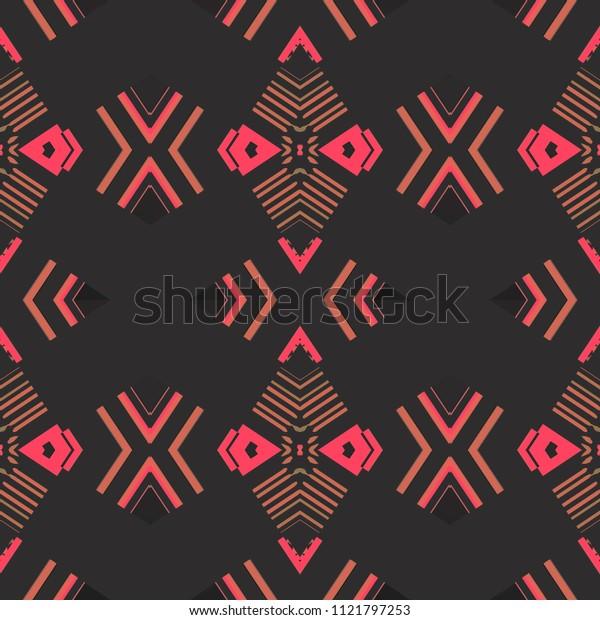 Colored chevron pattern. Kaleidoscopic texture. Herringbone geometric texture with diamond shaped elements. Ethnic plaid pattern for fashionable fabric, furniture, cloth print, interior decoration.