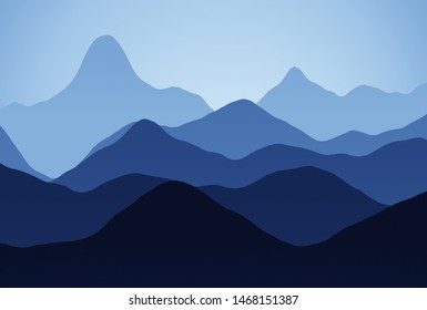 colored mountains with sky decor background