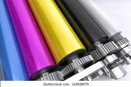 colored printers rolls