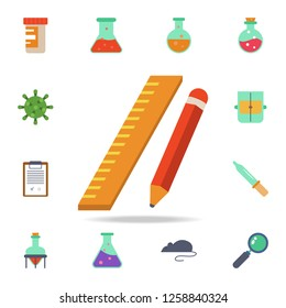 colored Ruler and pencil icon. Detailed set of colored science icons. Premium graphic design. One of the collection icons for websites, web design, mobile app
