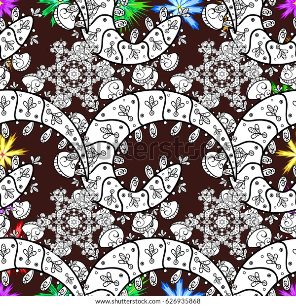 Colored snowflakes design decorative Christmas element on a background.