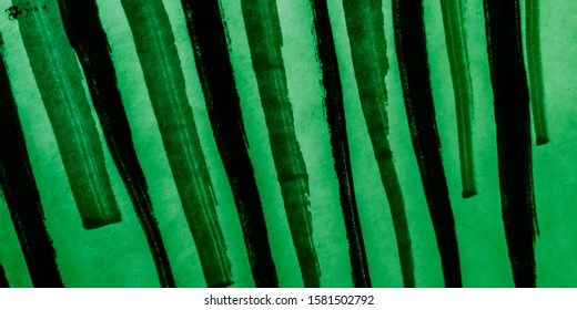 Colored Stripes. Khaki Water Color Effect Stripe. Colorful Stripe Illustration. Vintage Minimal Pattern.  OrganicBatik. Painted Geometric Pattern. Bright Dye.