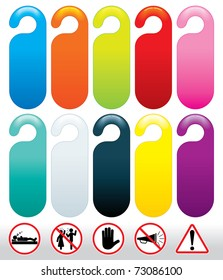 colored templates for do not disturb signs