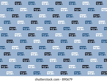Colored vector rv car pictograms in blue tonation - good for elegant package or packing paper.