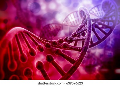 colorful 3d rendering of dna structure, abstract  background