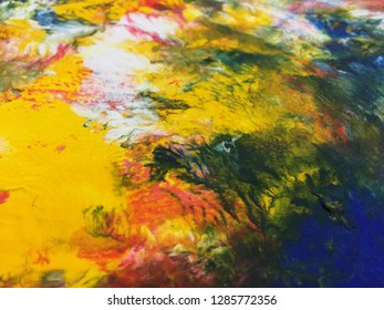 Colorful Abstract Art Acrylic Painting Texture Background