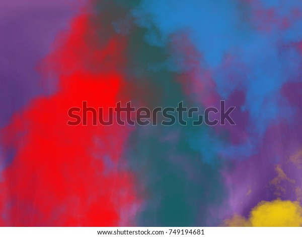 Colorful abstract background, bright and vivid painted colored clouds
