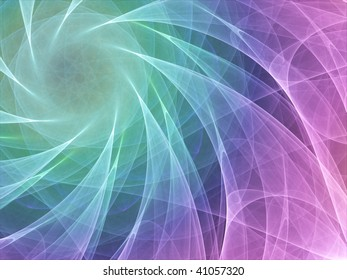 Colorful abstract background made of curved lines converging to a circle