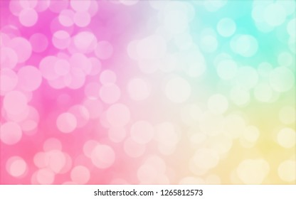 Colorful abstract background with pastel bokeh lights for background and wallpaper