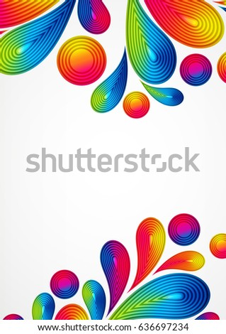 colorful abstract background striped drops splash stock illustration