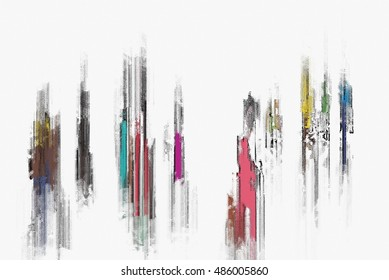 colorful abstract digital painting for background
