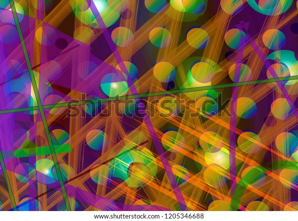 Colorful Abstract Expressionism Graphic Design Artwork Stock