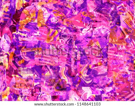Colorful Abstract Expressionism Paint Stock Illustration