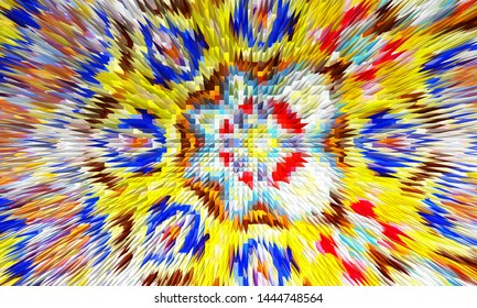 Colorful abstract figured spiky pattern for textile and design