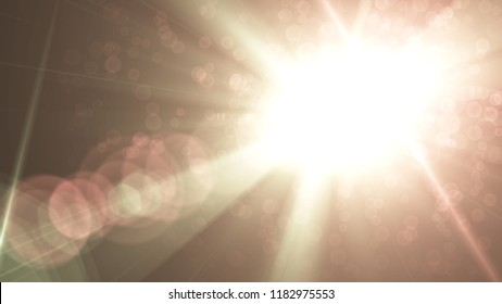 Colorful Abstract Natural lens flare background.