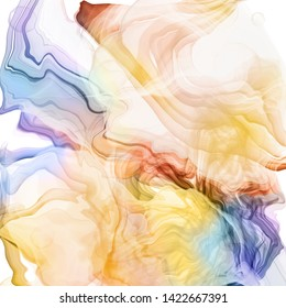 colorful abstract watercolor ink design