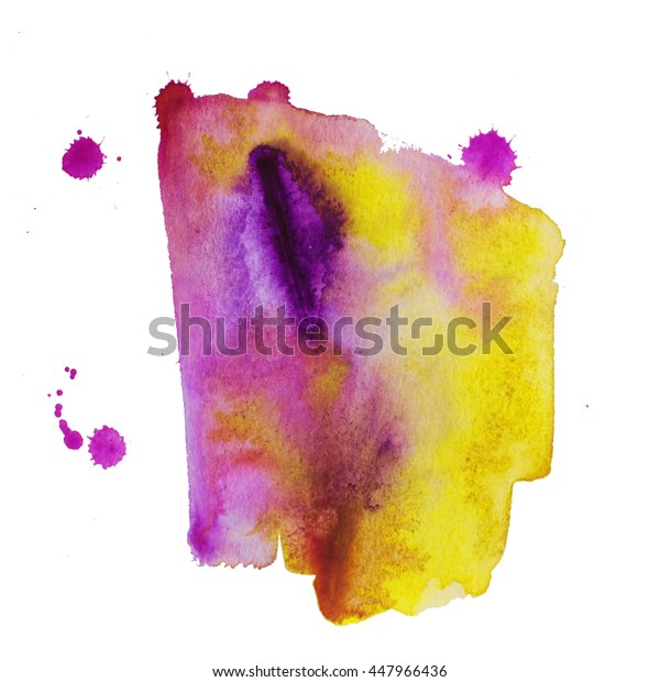 Colorful abstract watercolor texture with splashes and spatters. Modern creative watercolor background for trendy design.