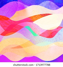 Colorful abstract waves beautiful image in a square shape