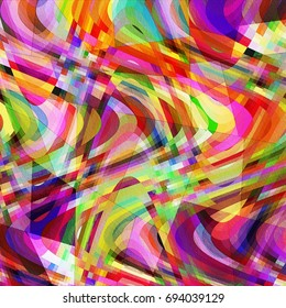 Colorful Abstract Waves Pattern