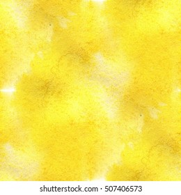colorful abstract yellow seamless watercolor for background. hand-drawn seamless watercolor for your text