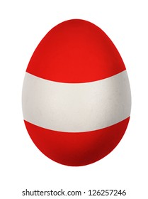 Colorful Austria flag Easter egg isolated on white background