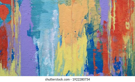 Colorful background abstrac acrylic on canvas,brush and palet knife tecnic,handmade