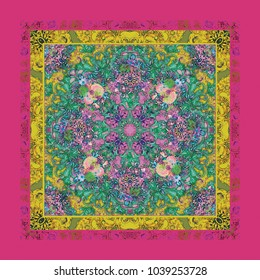 A colorful background design in ethnic style.