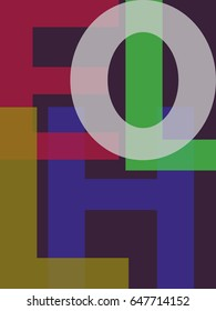 Colorful background with the letters of the word HELLO