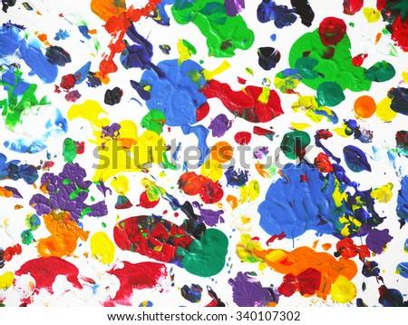 colorful background splash color drop painting stock illustration