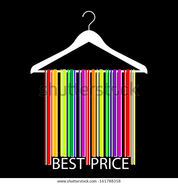 Colorful Best Price Barcode Clothes Hanger Stock Illustration 161788358