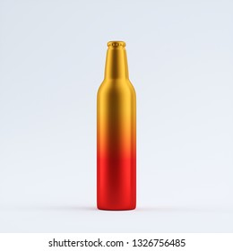 colorful blank aluminum bottle isolated on a limbo
