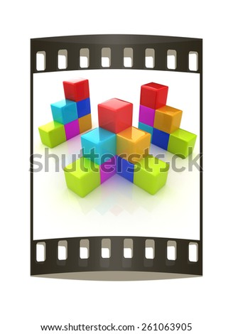 Colorful Block Diagram Film Strip Stock Illustration 261063905