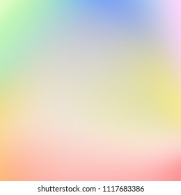 Colorful blurred abstract digital background. Holographic effect image. Magic texture.