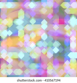 Colorful Blurry Diamond Lights Abstract Background
