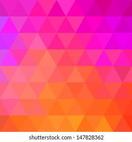 Colorful Bright Geometric Background. Raster illustration