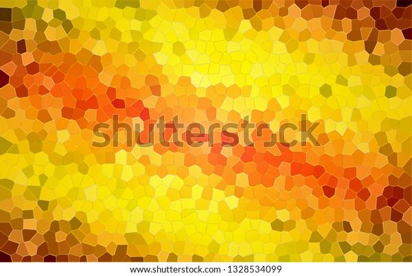 Colorful, bright, yellow & orange mosaic tiles background for showing festivity, celebration, euphoria, etc.