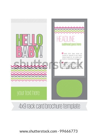 colorful brochure template blank spaces text stock illustration