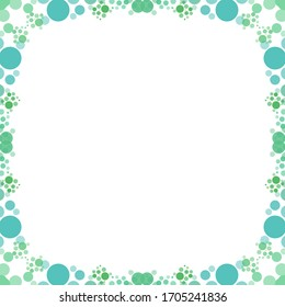 Colorful bubble frame illustration. Perfect for card design background